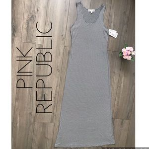 Pink Republic dress size S color ivory and black